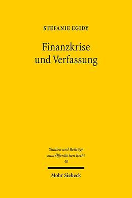 E-Book (pdf) Finanzkrise und Verfassung von Stefanie Egidy