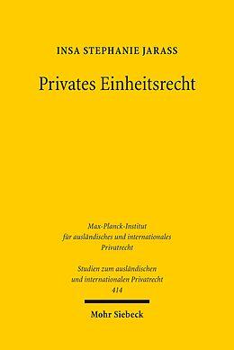 E-Book (pdf) Privates Einheitsrecht von Insa Stephanie Jarass