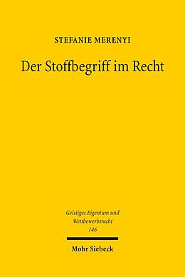 E-Book (pdf) Der Stoffbegriff im Recht von Stefanie Merenyi