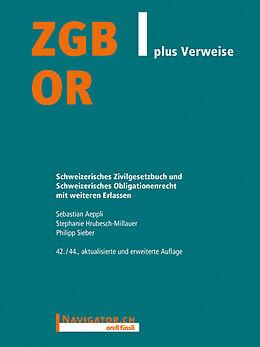 Kartonierter Einband ZGB/OR plus Verweise von Sebastian Aeppli, Stephanie Hrubesch-Millauer, Philipp Sieber