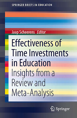E-Book (pdf) Effectiveness of Time Investments in Education von Jaap Scheerens
