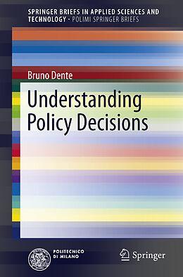 Kartonierter Einband Understanding Policy Decisions von Bruno Dente