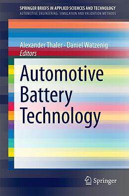 Kartonierter Einband Automotive Battery Technology von