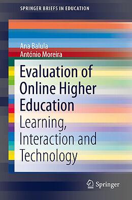 E-Book (pdf) Evaluation of Online Higher Education von Ana Balula, António Moreira