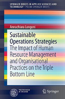 Kartonierter Einband Sustainable Operations Strategies von Annachiara Longoni