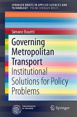Kartonierter Einband Governing Metropolitan Transport von Simone Busetti