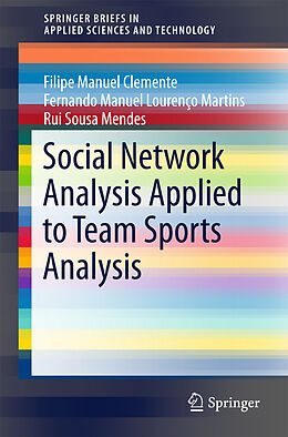 Kartonierter Einband Social Network Analysis Applied to Team Sports Analysis von Filipe Manuel Clemente, Fernando Manuel Lourenço Martins, Rui Sousa Mendes