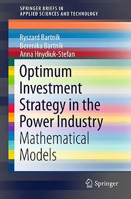 Kartonierter Einband Optimum Investment Strategy in the Power Industry von Ryszard Bartnik, Anna Hnydiuk-Stefan, Berenika Bartnik