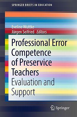 E-Book (pdf) Professional Error Competence of Preservice Teachers von