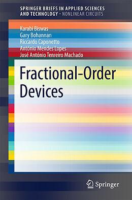 Kartonierter Einband Fractional-Order Devices von Riccardo Caponetto, António Mendes Lopes, Gary Bohannan
