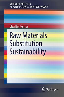 Kartonierter Einband Raw Materials Substitution Sustainability von Elza Bontempi