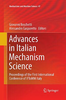 Kartonierter Einband Advances in Italian Mechanism Science von