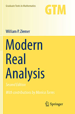 Kartonierter Einband Modern Real Analysis von William P. Ziemer