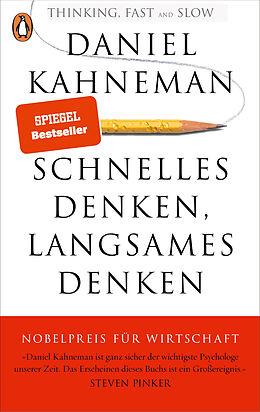 Kartonierter Einband Schnelles Denken, langsames Denken von Daniel Kahneman
