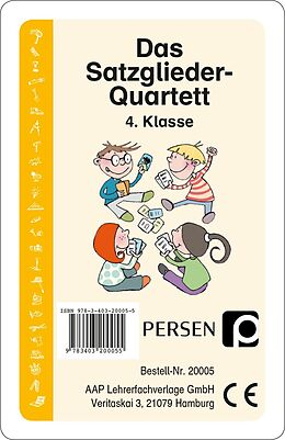 Das Satzglieder-Quartett [Versione tedesca]