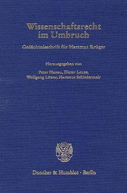 Fester Einband Wissenschaftsrecht im Umbruch. von