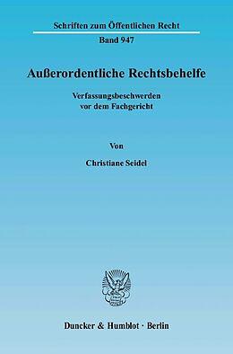 Kartonierter Einband Ausserordentliche Rechtsbehelfe von Christiane Seidel