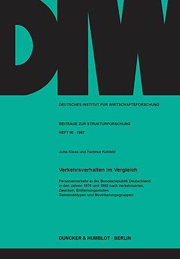 E-Book (pdf) Verkehrsverhalten im Vergleich. von Hartmut Kuhfeld