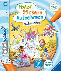 Spiralbindung tiptoi® CREATE Malen Stickern Aufnehmen: Zauberschule von Lotta Bieberstein