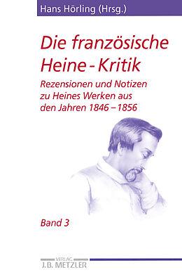 Kartonierter Einband Die französische Heine-Kritik von