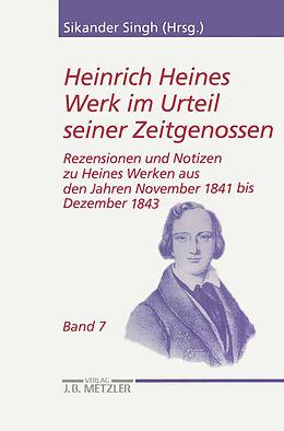 Kartonierter Einband Heinrich Heines Werk im Urteil seiner Zeitgenossen von