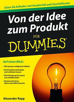 E-Book (epub) Von der Idee zum Produkt für Dummies von Alexander Rapp