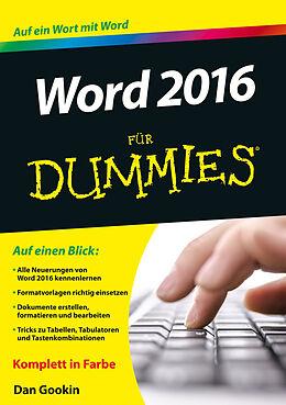 Kartonierter Einband Word 2016 für Dummies von Dan Gookin