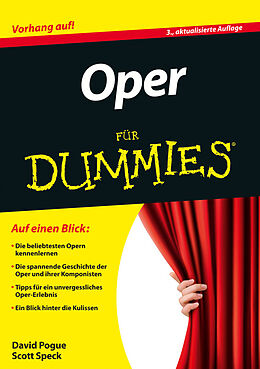 E-Book (epub) Oper für Dummies von David Pogue, Scott Speck