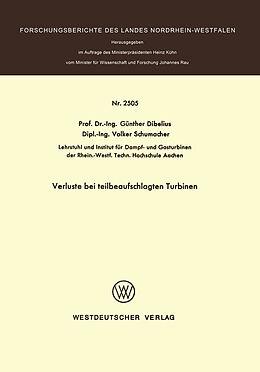 Kartonierter Einband Verluste bei teilbeaufschlagten Turbinen von Günther Dibelius