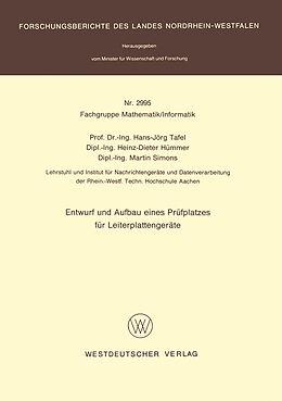 Kartonierter Einband Entwurf und Aufbau eines Prüfplatzes für Leiterplattengeräte von Hans Jörg Tafel
