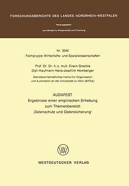 Kartonierter Einband Audafest von Erwin Grochla