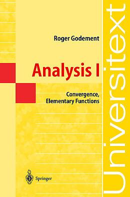 Kartonierter Einband Analysis I von Roger Godement