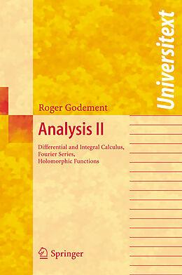 Kartonierter Einband Analysis II von Roger Godement