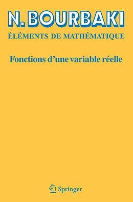 eBook (pdf) Fonctions d'une variable réelle de N. Bourbaki