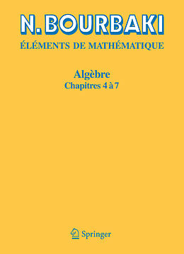 eBook (pdf) Algèbre de N. Bourbaki