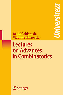 Kartonierter Einband Lectures on Advances in Combinatorics von Rudolf Ahlswede, Vladimir Blinovsky