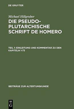 Fester Einband Einleitung und Kommentar zu den Kapiteln 1-73 von Michael Hillgruber