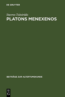 Fester Einband Platons Menexenos von Stavros Tsitsiridis