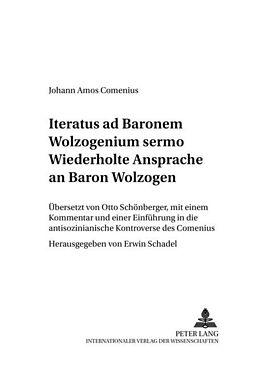 Kartonierter Einband Wiederholte Ansprache an Baron Wolzogen- Iteratus ad Baronem Wolzogenium sermo von Johann Amos Comenius