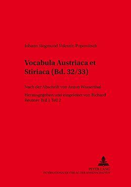 Kartonierter Einband Vocabula Austriaca et Stiriaca von Johann Siegmund Valentin Popowitsch