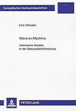 Kartonierter Einband Mens ex Machina von Lars Schuster