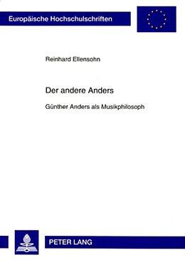 Kartonierter Einband Der andere Anders von Reinhard Ellensohn