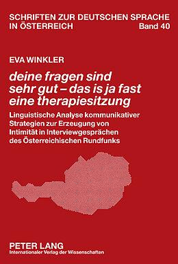 Fester Einband deine fragen sind sehr gut - das is ja fast eine therapiesitzung von Eva Winkler