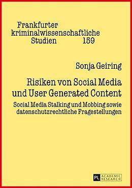 Fester Einband Risiken von Social Media und User Generated Content von Sonja Geiring
