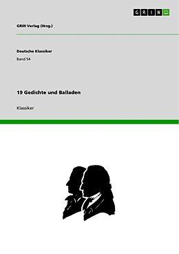 Kartonierter Einband 19 Gedichte und Balladen von GRIN Verlag (Hrsg. )