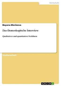 Kartonierter Einband Das Demoskopische Interview von Boyana Marinova