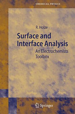 Kartonierter Einband Surface and Interface Analysis von Rudolf Holze