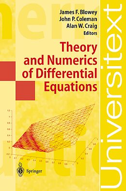 Kartonierter Einband Theory and Numerics of Differential Equations von