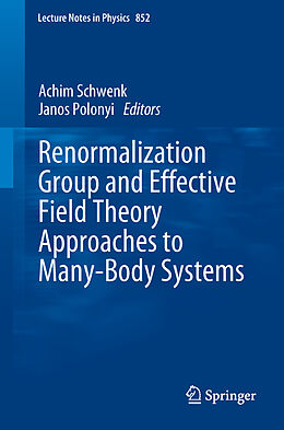 Kartonierter Einband Renormalization Group and Effective Field Theory Approaches to Many-Body Systems von