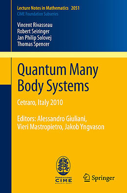 Kartonierter Einband Quantum Many Body Systems von Vincent Rivasseau, Robert Seiringer, Jan Philip Solovej